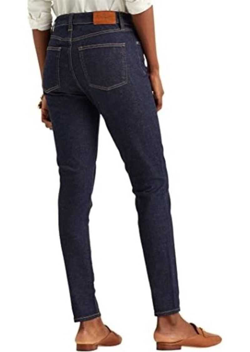 Ralph Lauren High-Rise Skinny Ankle Jeans in Rinse Wash