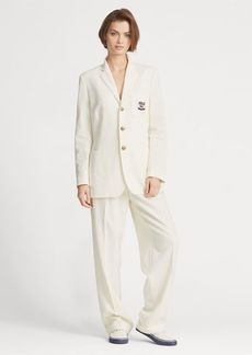 Ralph Lauren High-Rise Straight Wool Pant