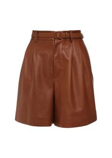 Ralph Lauren High Waist Leather Shorts