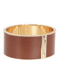 Ralph Lauren Hinged Lock Leather Bangle Bracelet