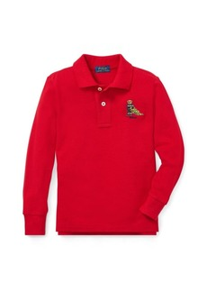 Ralph Lauren Holiday Bear Cotton Mesh Polo