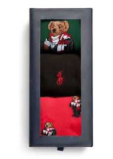 Ralph Lauren Holiday Bear Sock Gift Set