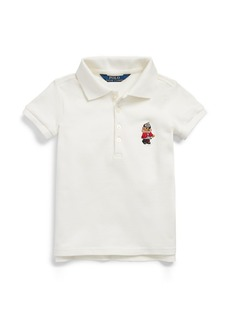 Ralph Lauren Holiday Bear Stretch Mesh Polo