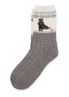 Ralph Lauren Holiday Polo Bear Boot Socks