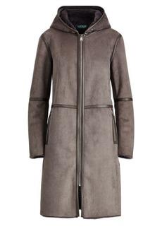 Ralph Lauren Hooded Faux-Suede Jacket