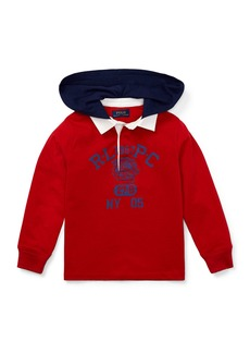 Ralph Lauren Hooded Knit Rugby Top  Size 5-7