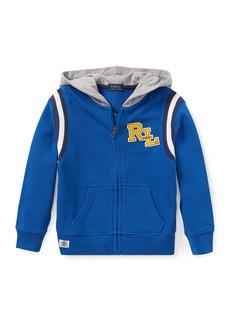 Ralph Lauren Hooded Logo Zip-Up Jacket  Size 2-4
