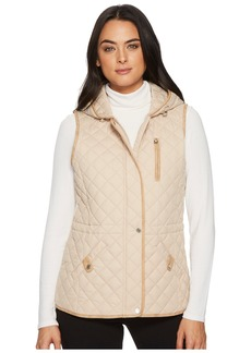 Ralph Lauren Hooded Vest w/ Faux Leather Tabs