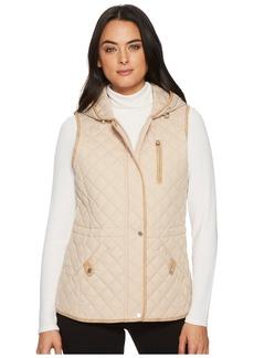 Ralph Lauren Hooded Vest w/ Faux Leather Tabs