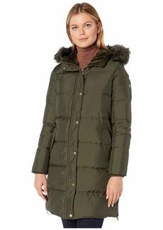 Ralph Lauren Horizontal Heavy Down w/ Flap Pockets Puffer Coat