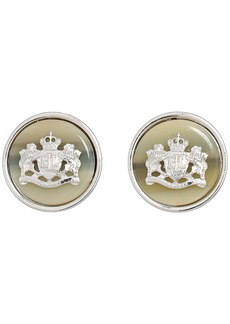 Ralph Lauren Horn Clip Crest Stud Earrings