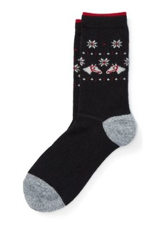 Ralph Lauren Horse-Head Boot Socks