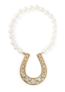 Ralph Lauren Horseshoe Faux-Pearl Necklace