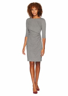 Ralph Lauren Houndstooth Knit Cierra 3/4 Sleeve Day Dress