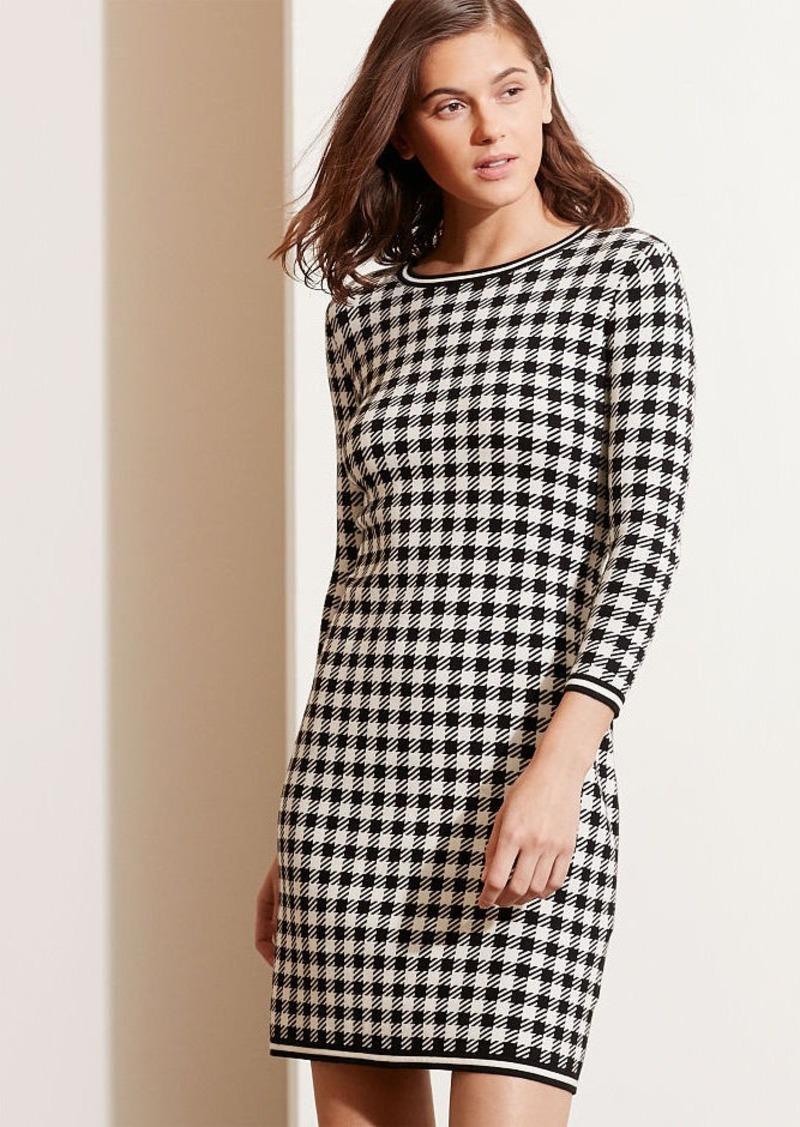 Ralph Lauren Houndstooth Sheath Dress