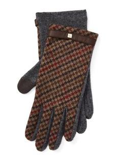 Ralph Lauren Houndstooth Tech Gloves