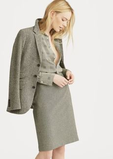 Ralph Lauren Houndstooth Tweed Pencil Skirt