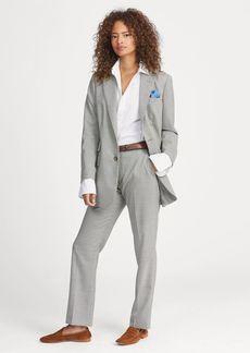 Ralph Lauren Houndstooth Wool Straight Pant