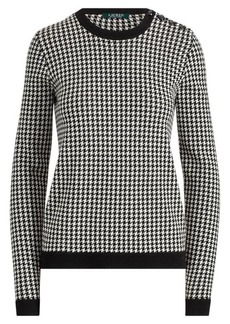Ralph Lauren Houndstooth Wool Sweater