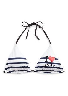 Ralph Lauren I Heart Polo Bikini Top