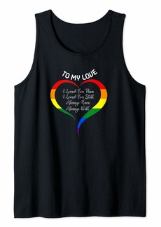 Ralph Lauren I Loved You Then I love You Still Always Have Always Will Tank Top