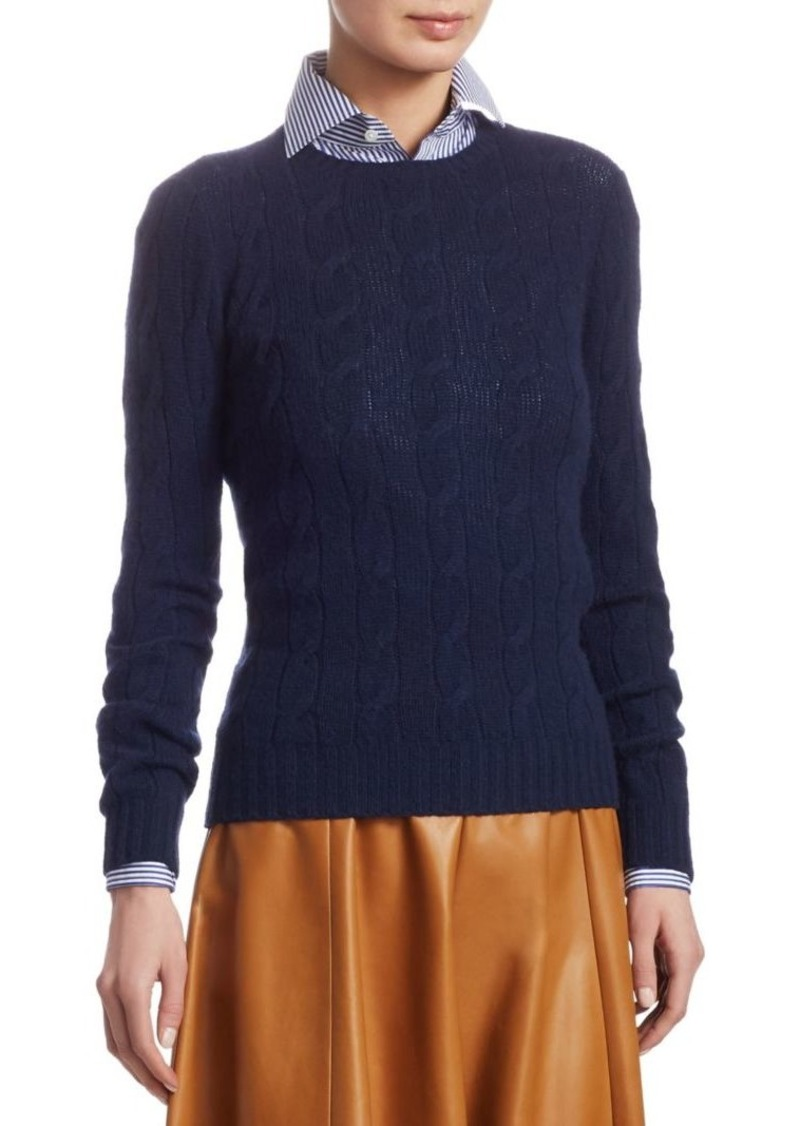 dcfee78bfc5d3d Ralph Lauren Cable Knit Cashmere Sweater   Sweaters