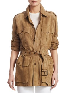 Ralph Lauren Iconic Style Military Suede Jacket