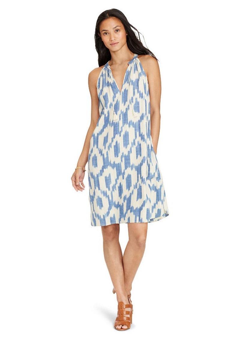 Ralph Lauren Ikat-Print Cotton Dress