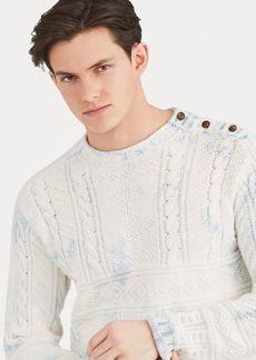 Ralph Lauren Indigo Aran Cotton Sweater