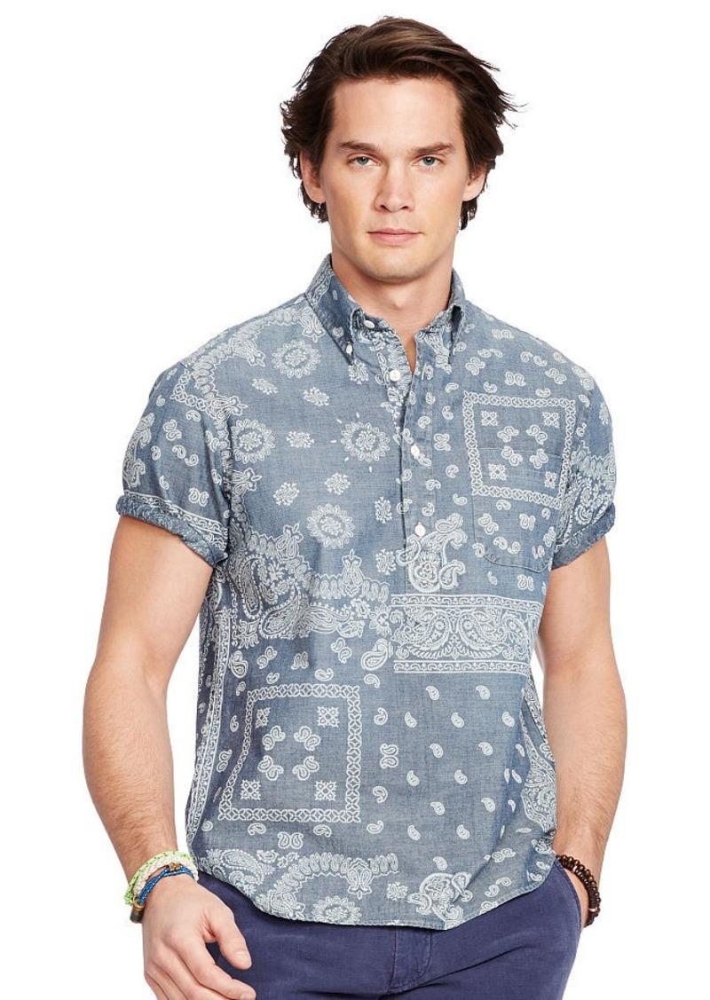Ralph Lauren Indigo Bandanna Chambray Shirt