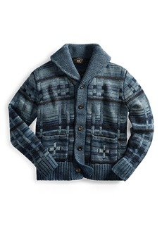 Ralph Lauren Indigo Cotton-Blend Cardigan