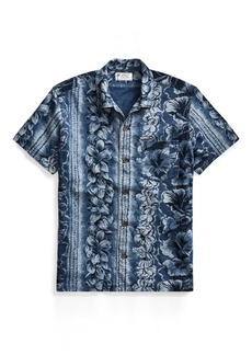 Ralph Lauren Indigo Cotton Camp Shirt
