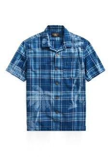 Ralph Lauren Indigo Cotton-Linen Camp Shirt