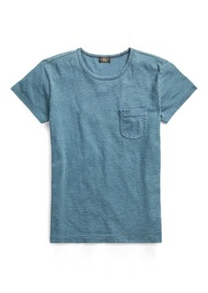 Ralph Lauren Indigo Cotton Pocket T-Shirt