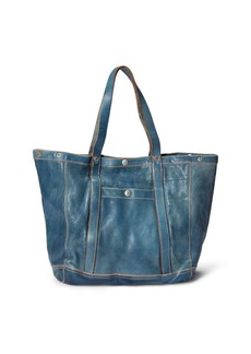 Ralph Lauren Indigo-Dyed Leather Tote