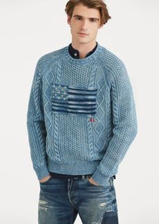 Ralph Lauren Indigo Flag Cotton Sweater