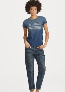 Ralph Lauren Indigo Flag Cotton T-Shirt