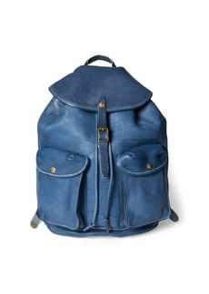 Ralph Lauren Indigo Leather Rucksack