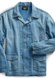 Ralph Lauren Indigo Linen-Cotton Workshirt