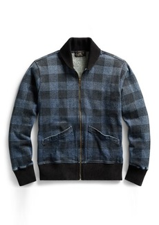 Ralph Lauren Indigo Plaid Fleece Jacket