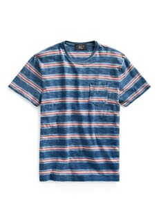 Ralph Lauren Indigo Striped Pocket Tee