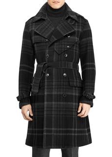 Ralph Lauren Ingleton Plaid Wool Trench Coat