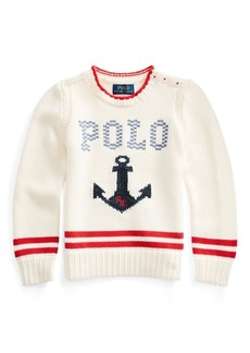 Ralph Lauren Intarsia-Anchor Cotton Sweater