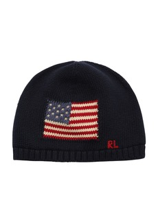 Ralph Lauren Intarsia Cotton Knit Beanie Hat