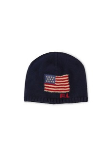 Ralph Lauren Intarsia-Knit-Flag Hat
