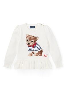 Ralph Lauren Intarsia-Knit Peplum Sweater