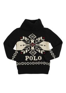 Ralph Lauren Intarsia Knit Turtleneck Sweater