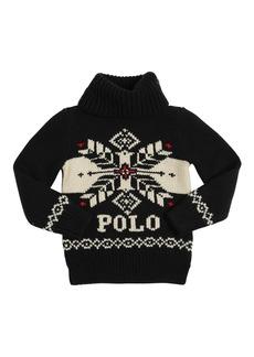 Ralph Lauren Intarsia Knit Turtleneck Sweater