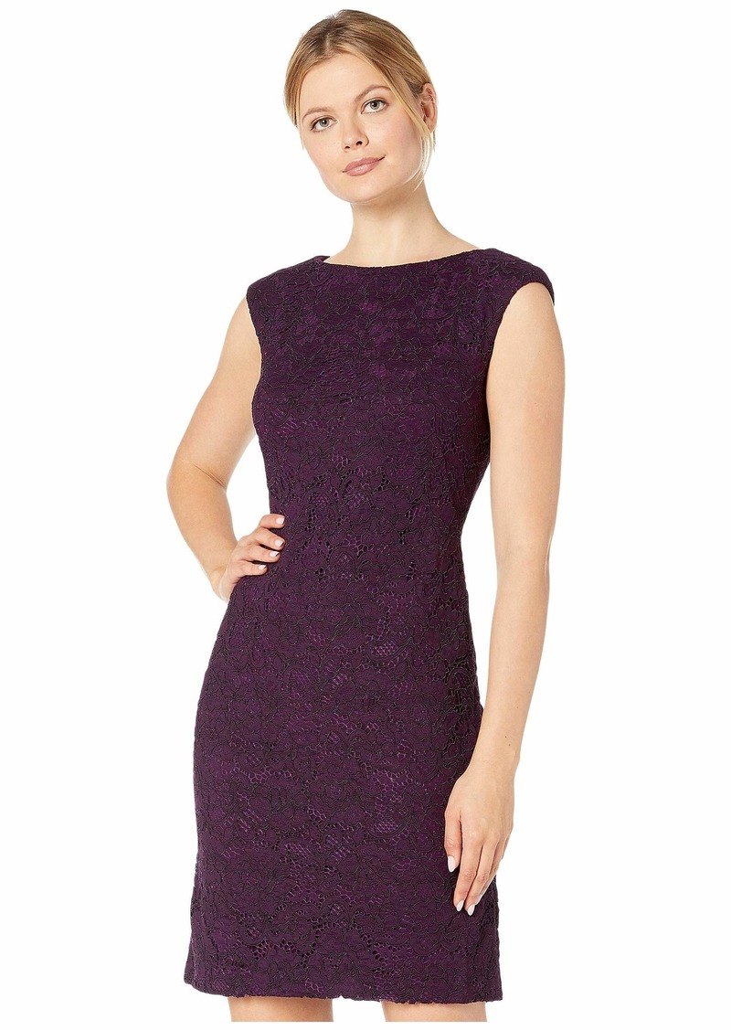 Ralph Lauren Isabella Scllp Lace Cithya Cap Sleeve Day Dress
