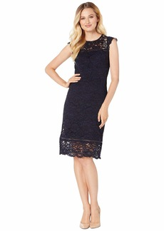 Ralph Lauren Isabella Scllp Lace Daryl Cap Sleeve Day Dress